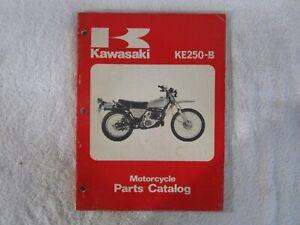 Original Kawasaki Ke250 Motorcycle Parts Catalog 99997 682 01 Ebay