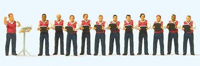 """Affidabile Preiser 10599 H0 Figure """" Männergesangsverein. 12 Miniature """" # Nuovo In Conf ## Nuove Varietà Sono Introdotte Una Dopo L'Altra"""