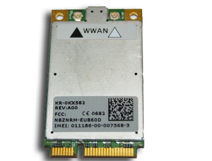 Dell OEM Wireless 5520 Mini-PCI Express Cingular 3G Broadband WWAN Card - KX582