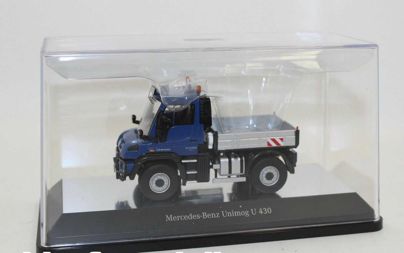 NZG 910 20 Mercedes Benz Unimog u 400 azul 1 50 nuevo en OVP