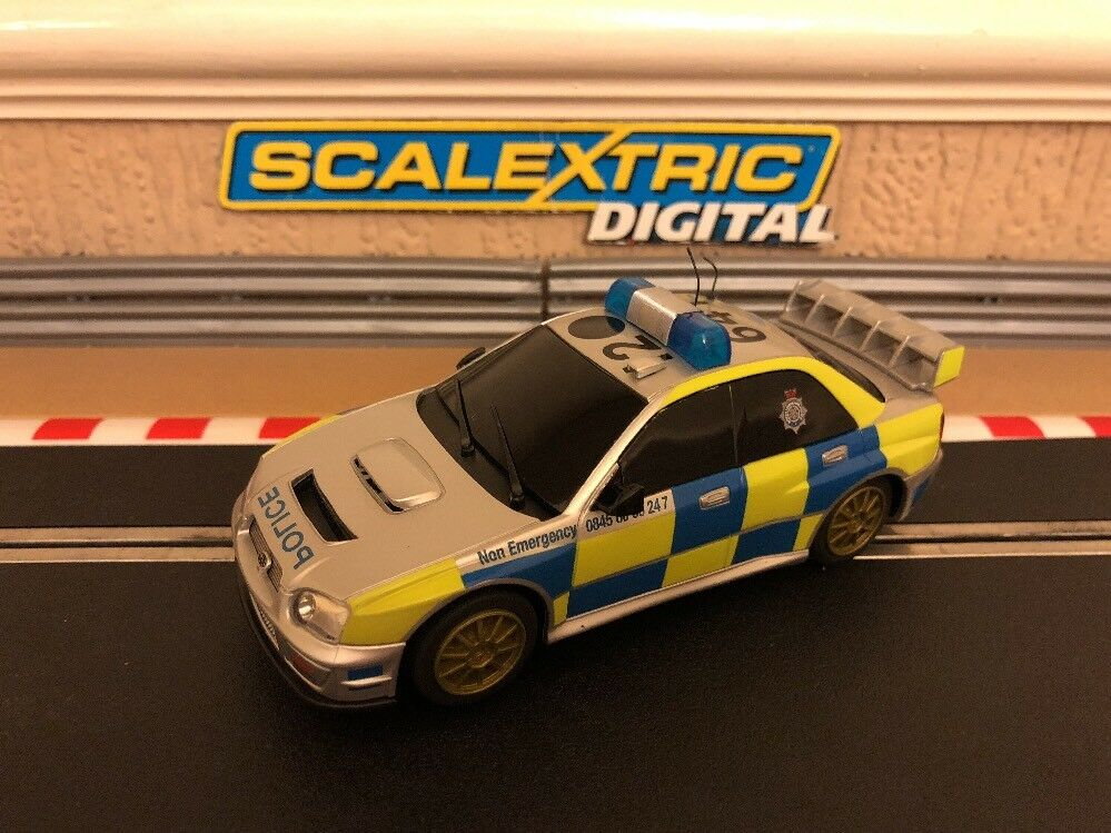 Scalextric Digital Police Subaru Impreza Flashing Roof Lights & Siren C3068