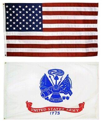 Nylon US Army Black Flag 3/'x5/'