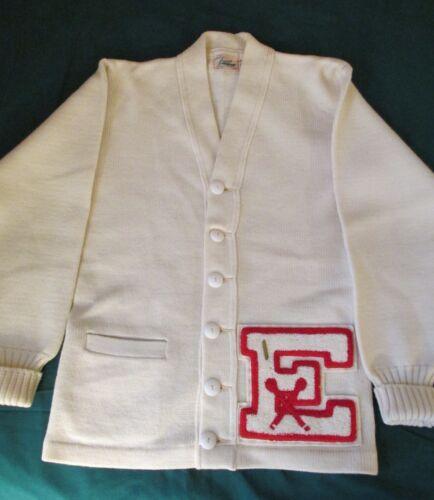 Vtg 1950s 60s Women's Letterman Lanza Wool Athleti