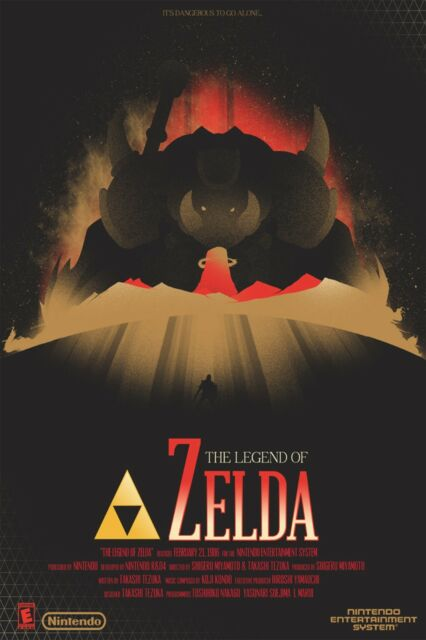 The Legend Of Zelda - Wall Poster 30 in x 20 in - 8 Set of 9