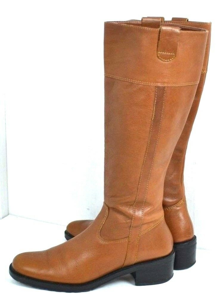 BANANA REPUBLIC BROWN SIZE GENUINE LEATHER WOMEN BOOTS SIZE BROWN 7 FLAT 1a9f3a