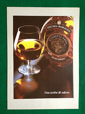 (AB16) Pubblicità Advertising Ads Werbung VECCHIA ROMAGNA BRANDY ETICHETTA NERA