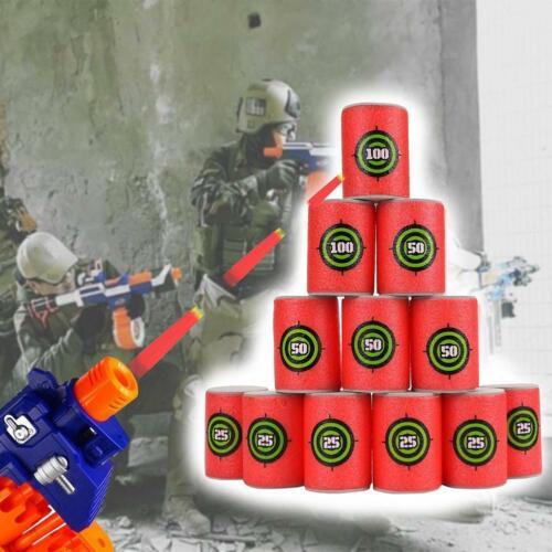 6Pcs //set Foam EVA Soft Bullet Dart Shoot Target Toy for  Blasters