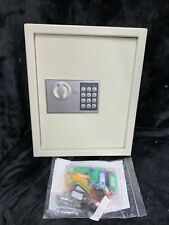 Key Cabinet Digital Lock Cream Wall Mounted 40 Key Security Box Storage Safe