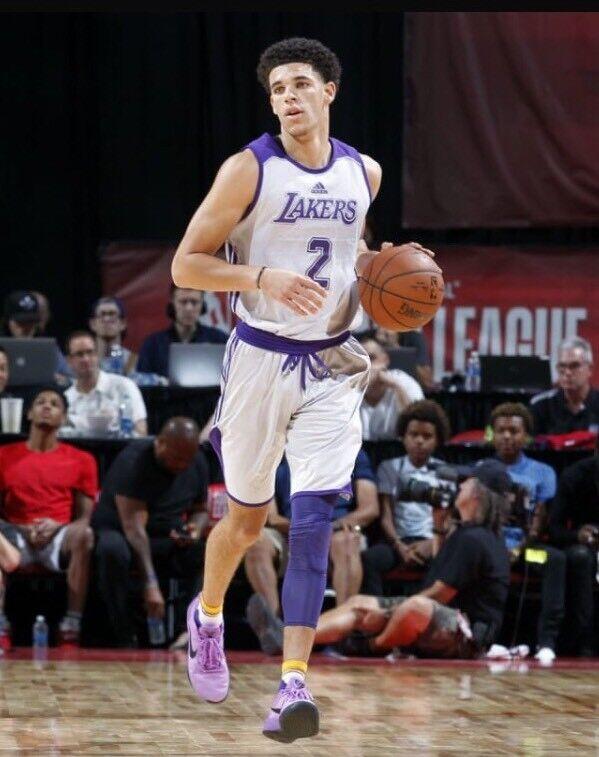 Nike Kobe A.D. Purple Stardust Black LA Lakers QS Lonzo Ball Kyle Kuzma PE Sz 11