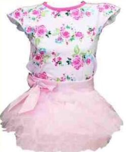 Image Is Loading New Baby Girls Pink Tutu Skirt Amp Floral