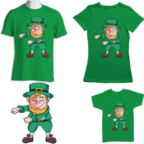 St Patricks Day Leprechaun T Shirt Adults Women Men Kids Tee Shamrock Flossing-4