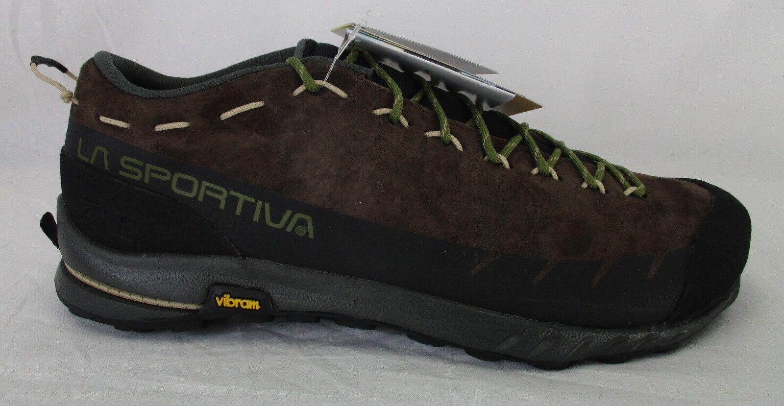 La Sportiva Mens TX2 Leather Climbing Shoes 27G Chocolate/Avocado Size 45.5