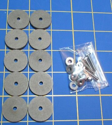 """2 1//2/""""  Hardboard Discs For Jointed Teddy Bear = 10 with Tap Bolt Set"""