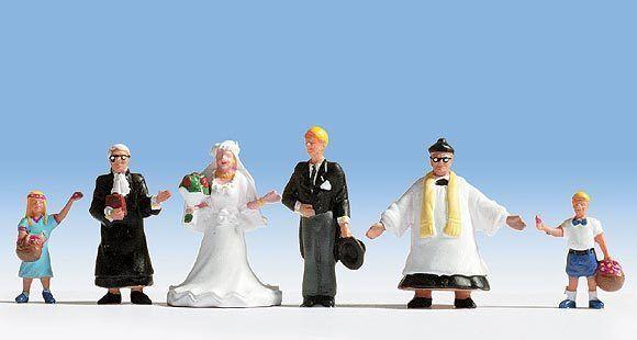Figurines Noch H0 (15860): Wedding, 6 Figurines