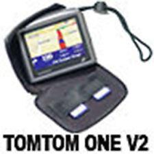JET BLACK ZIPPER CASE HOLDER  FOR TOMTOM ONE V2 V3