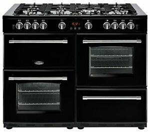 Belling-Farmhouse-110DF-Dual-Fuel-Range-Cooker-Black