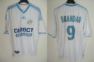 Détails sur Maillot OLYMPIQUE de MARSEILLE Adidas 2010 OM BRANDAO n°9 shirt jersey maglia M