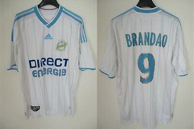 Maillot OLYMPIQUE de MARSEILLE Adidas 2010 OM BRANDAO n°9 shirt jersey maglia M | eBay