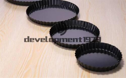 "New Aluminum Alloy Fluted Pie Pan Removable Bottom Non-Stick Tart  6/""//8/""//9.5/"""