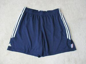 Adidas-WNBA-Basketball-Shorts-Womens-2XL-XXL-Blue-White-Athletic-Gym-Ladies