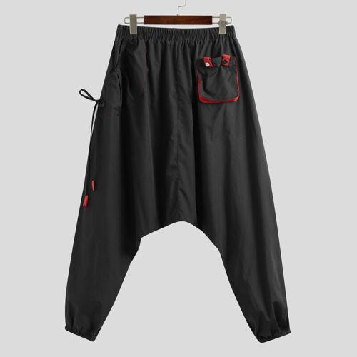 Mens Casual Loose Harem Trousers Hippie Thai Alibaba Festival Yoga Baggy Pants