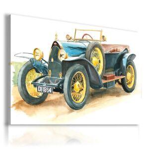 BUGATTI DRAWING CARS VINTAGE NATURE PRINT Canvas Wall Art R58 MATAGA