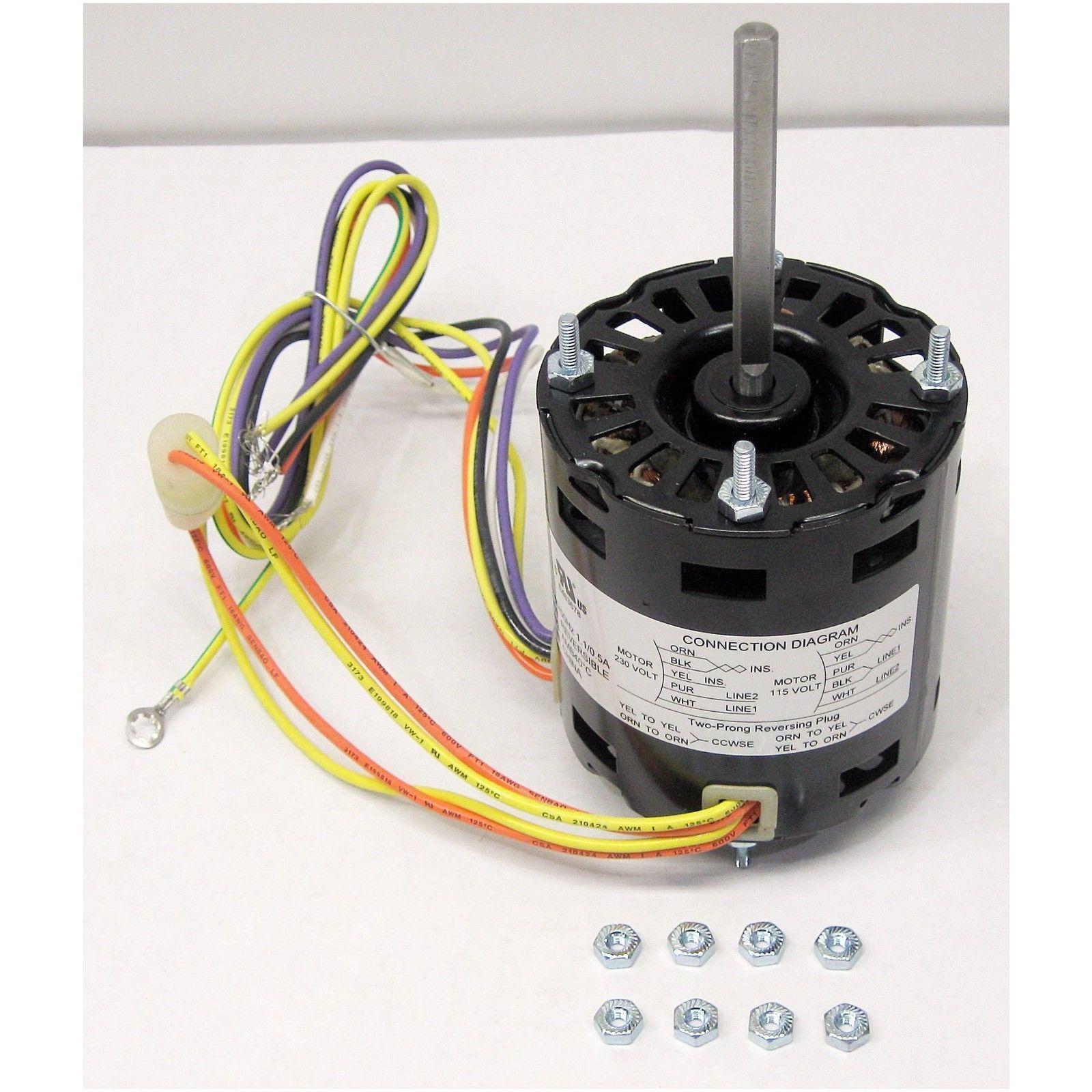 Ge 5ksm84dfk146as 102540003 Cold Zone Evap Fan Motor 1 20 Hp 1550 Rpm 115v 3 3 For Sale Online Ebay