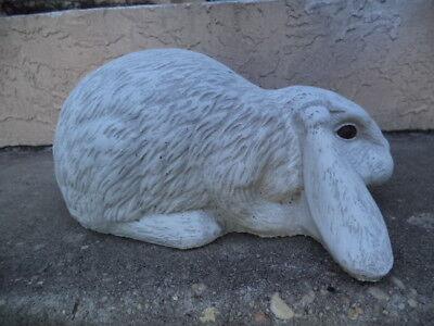 New Long Ear Bunny Lop Rabbit Gray Cement Concrete Garden Statue Antique White Ebay