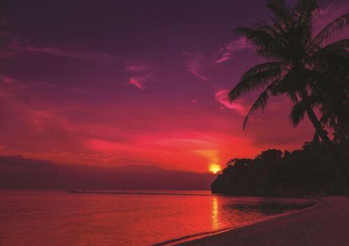PHOTOGRAPH SEASCAPE SUNSET SUNDOWN THAI THAILAND BEACH ART PRINT POSTER GZ5755