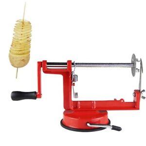 Peelings-Politur-Schnitt-Kartoffelschaeler-Spirale-Spiesse-Kartoffeln-Stahl-Neu