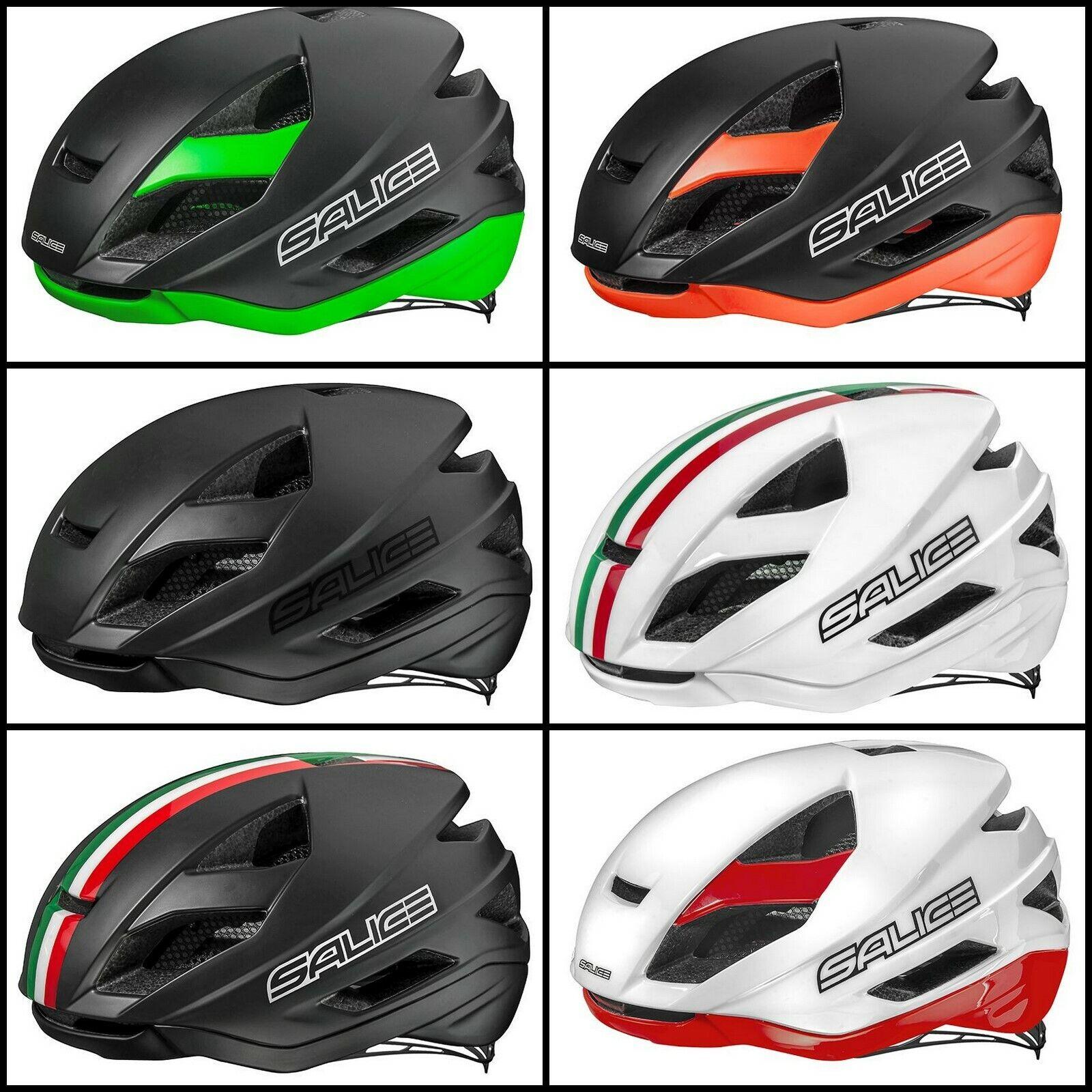 SALICE casco bici corsa ciclismo bike helmet triColoreeee italy LEVANTE road AERO