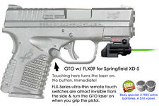 ArmaLaser GTO for Springfield XD-S XDS GREEN Laser Sight w/ FLX09 Grip Touch