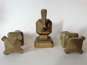 2 Robinets Et Systéme Pour Syphon Art Déco En Bronze Haute Qualité