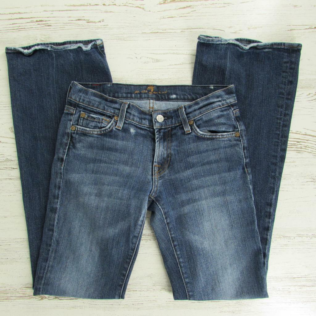 7 For All Mankind Womens Flare Leg Stretch Jeans Size 26 x 32