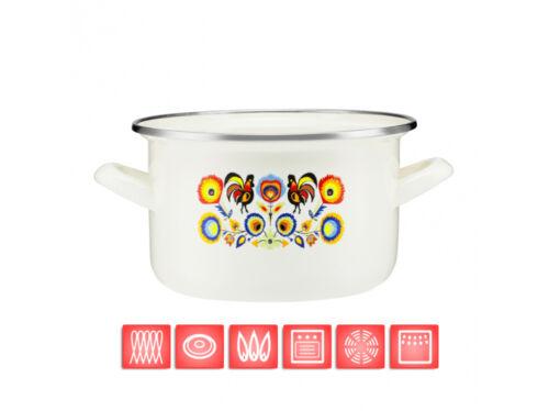 Haute qualité pot émail acier carbone pots casserole batterie de cuisine blanc cottage style