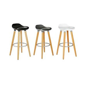 watch 6abed 0de3e Details about Scandinavian Style Set of 2 Bar Stools Kitchen Bar Pub  Counter Stool High Chair