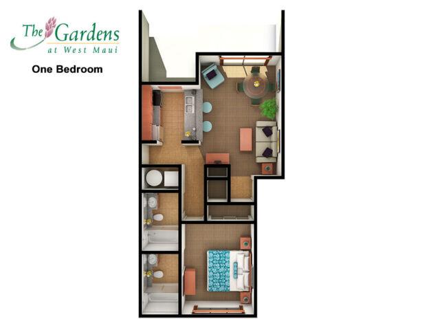 Gardens at West Maui Kapalua Hawaii 1 Bedroom Villa Rental 7 Nights 2019 - 2020