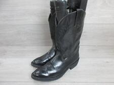 JUSTIN MENS WESTERN/COWBOY BOOTS SIZE UK 7.5 BLACK VERY GOOD CONDITION EA4824