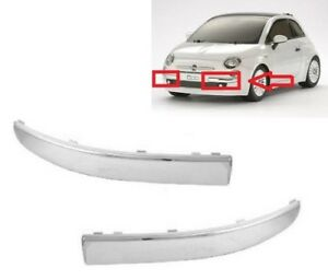 07-15 NEW REAR BUMPER CHROME TRIM WITH TOWING EYE COVER FOR FIAT 500 312