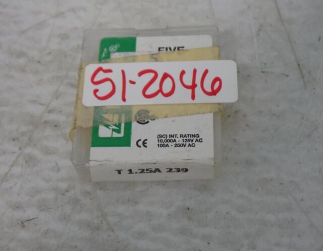 Slow-blow 1.25A 250V 3pcs Buss  T1.25AL250V T1.25A 250V fuse 5X20mm