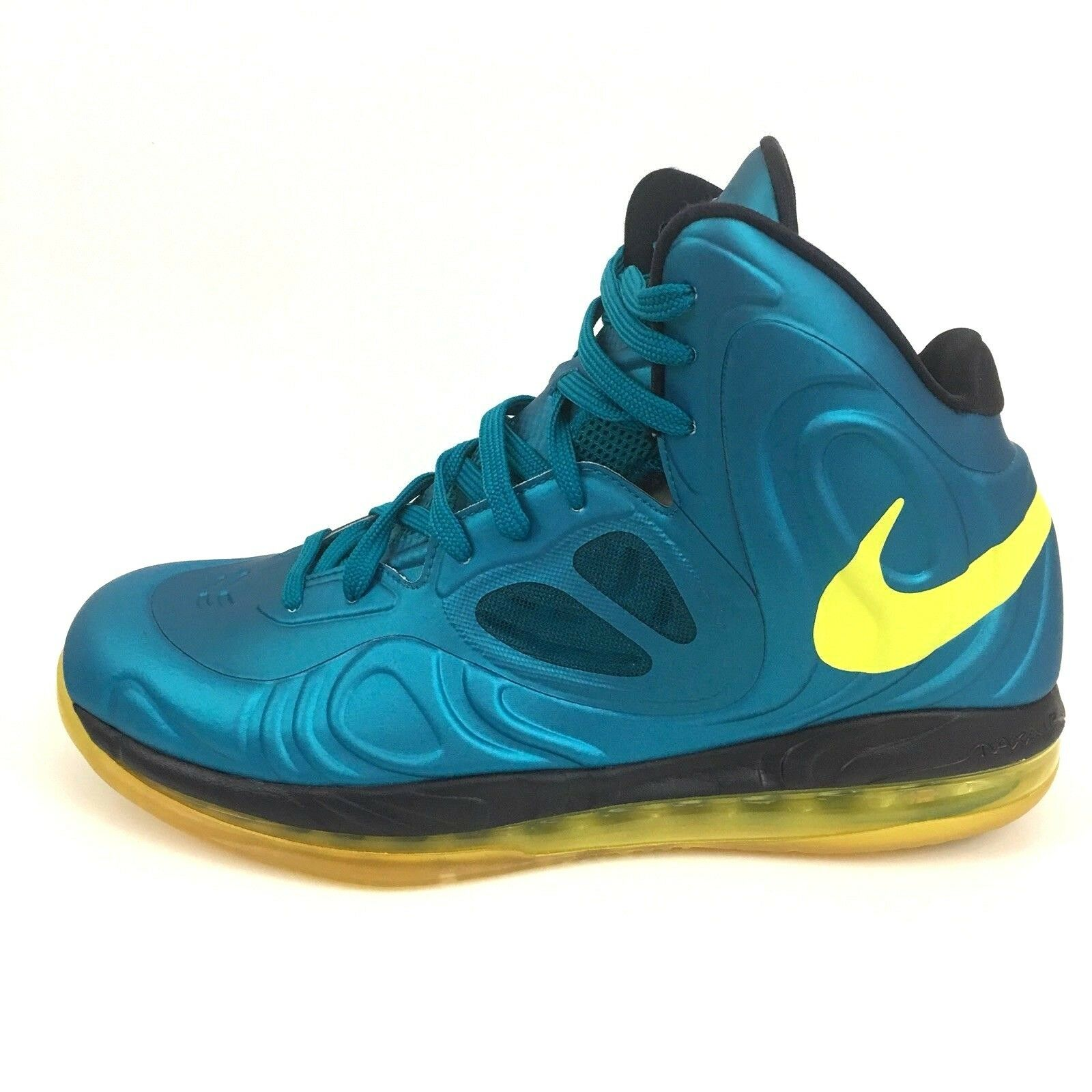 Nike Men's Air Max Hyperposite Tropical Teal Sonic Yellow Basketball shoes Sz 10