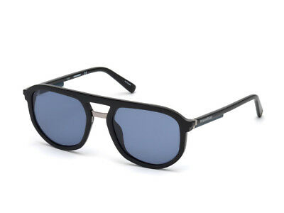 Bellissimo Occhiali Da Sole Dsquared2 Dq0296 Nero Lucido Blu 01v