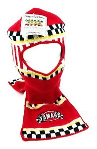 VTG-90s-Yamaha-Snowmobile-Full-Face-Winter-Knit-Ski-Mask-Hat-Cap-Red-Adult-USA