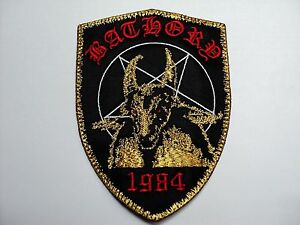 bathory gold shield        EMBROIDERED PATCH