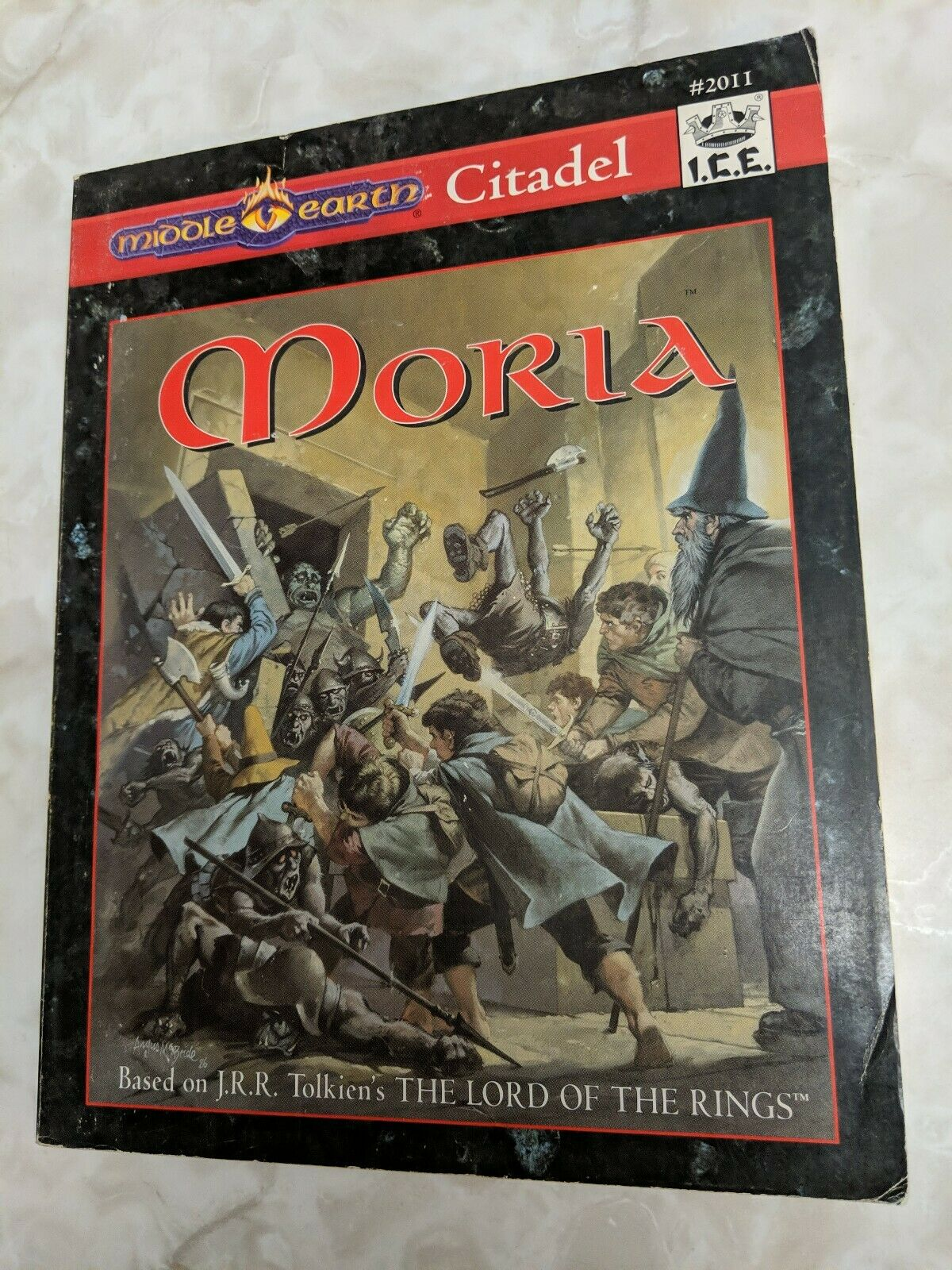 Moria Citadel serie Middle Earth, MERP \35;2011, massaR rollenspel 1994 RPG