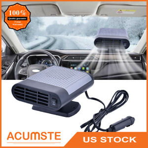 Protable Car Dryer Winshield Demister Defroster Auto Heater Heating Fan 12V Gray