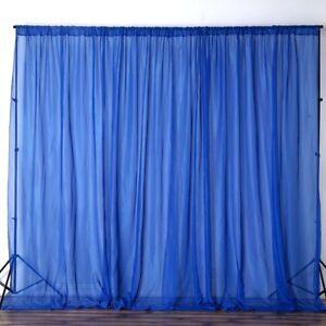 Image Is Loading Royal Blue 10 X Ft Voile Backdrop