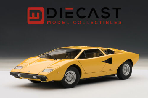 YELLOW 1:18TH SCALE AUTOART 74646 LAMBORGHINI COUNTACH LP400