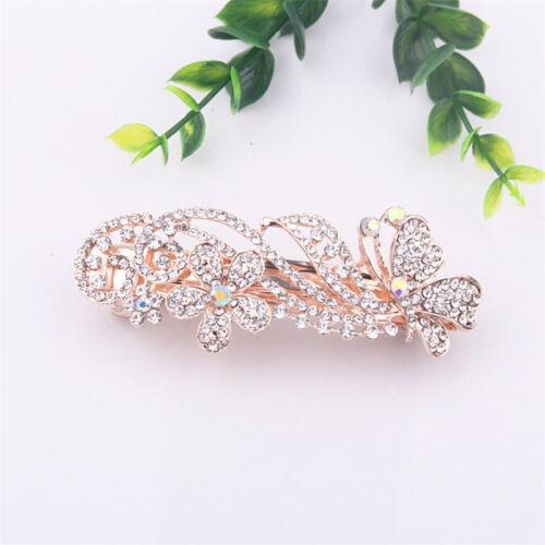 Women/'s Crystal Cheveux Diapositive girps barrettes épingle à cheveux clips Cheveux Épingles Accessoires