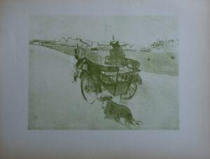 1d091cd2678 TOULOUSE-LAUTREC   le taxi et le chien - LITHOGRAPHIE signée  1927 ...